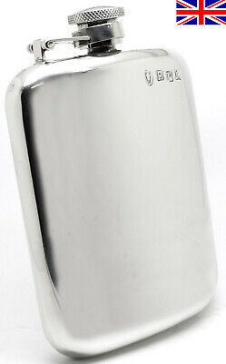 £43.95 • Buy Sheffield Pewter Hip Flask 6oz Captive Top Hand Made In England - Free Engraving