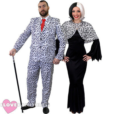 £19.99 • Buy Halloween Dalmatian Fancy Dress Costumes His Or Hers Tv Film Movie Character