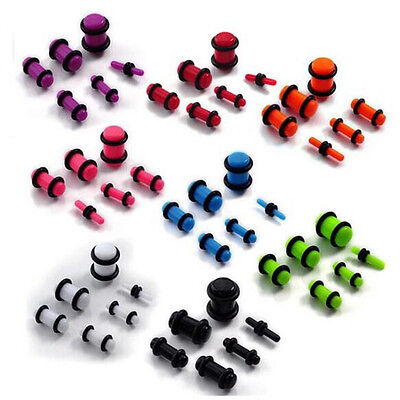 AU8.88 • Buy 6pc Set 2mm - 8mm Stretcher Kit Expander Earring Taper Earplug Ear Plug Piercing