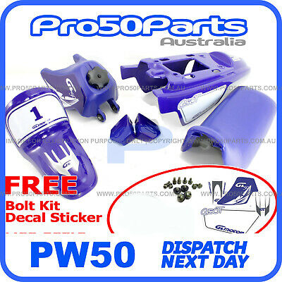 AU139.99 • Buy Yamaha PW50 Peewee 1985-2016 Plastics Fender Cover + Fuel Tank + Seat + Decal