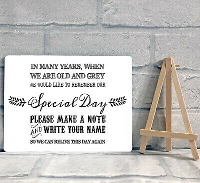 £8.95 • Buy A5 Guest Book Wishing Tree Hearts Drop Box Table Sign Wedding Party & Easel