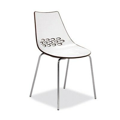 £139 • Buy Calligaris Jam Chair Designer Lounge Chrome Dining Chair
