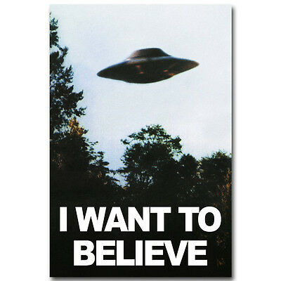 $ CDN11.27 • Buy The X-Files I Want To Believe TV Art Silk Fabric Poster 12x18 24x36 Inch