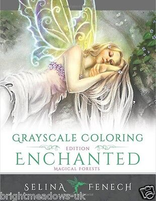 £12.99 • Buy Enchanted Greyscale Edition Adult Colouring Book Fantasy Mystical Magical Fairy