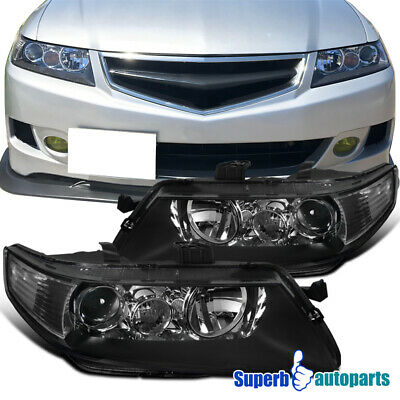 $156.98 • Buy For 2004-2005 Acura 04-05 TSX Headlights Projector Head Lamp Black
