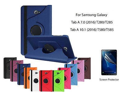 AU10 • Buy Screen Protector/360°Rotate PU Leather Case For Samsung Galaxy Tab A 10.1  7.0