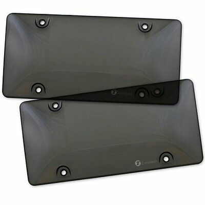 $7.85 • Buy Zone Tech 2x Bubble Tinted- Smoke License Plate Tag Frame Cover Shield Car Truck