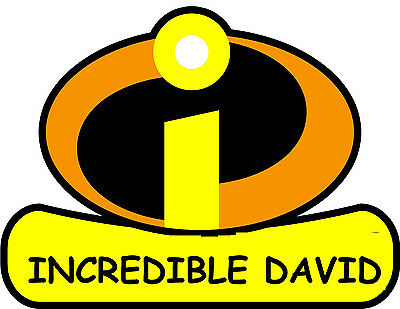 ******the Incredibles*** Personalized****fabric/t-shirt Iron On Transfer • 2.15£