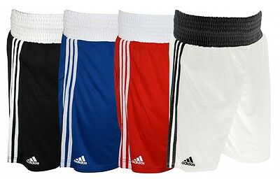 Adidas Boxing Shorts Climalite White Blue Red Black Pro Mens Sparring • 22.45£