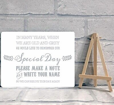 £8.95 • Buy A5 Guest Book Wish Tree Hearts Drop Box Metal Table Sign And Easel