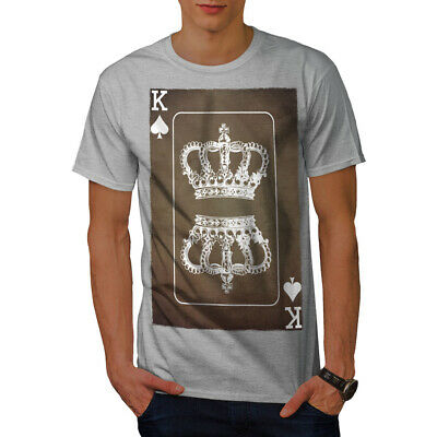 AU27.18 • Buy Wellcoda Royal Crown Game Mens T-shirt, King Card Graphic Design Printed Tee