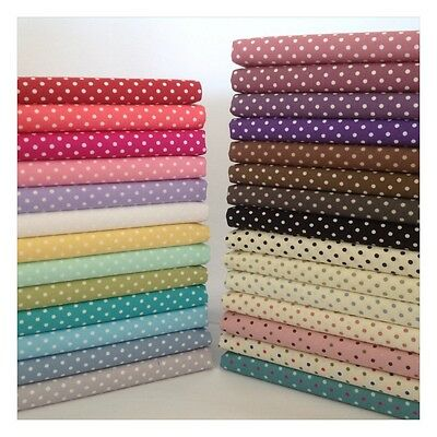 3mm Polka Dot Collection 100% Cotton Fabric, Sewing, Craft, Spots ROSE & HUBBLE • 4.15£