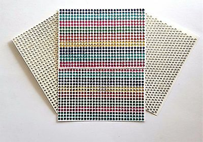 Bumper Pack Of  2400 Adhesive Sticky Dainty 3 Mm Clear Multi-Mixed Gem Stickers  • 5.40£