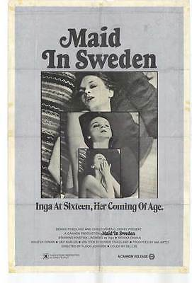 $17.98 • Buy MAID IN SWEDEN Movie POSTER 27x40
