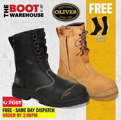 $ CDN159.38 • Buy Oliver Work Boots 55385 & 55380 Steel Toe Zip Side Safety Work Boot, NEW STYLE!