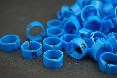 £7.98 • Buy 14MM Dia Blue 001-100 Numbered Chicken Leg Bands Duck Chicken Goose Rings 100PC