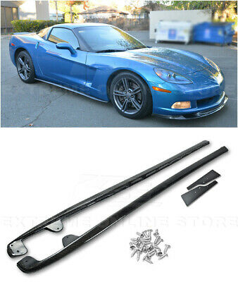 IMPERFECT For 05-13 Corvette C6 Base ZR1 CARBON FIBER Side Skirts Rocker Panels • 189.99$