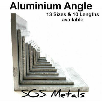 £3.60 • Buy ALUMINIUM Equal L Extruded ANGLE 13 Sizes To Choose From & 10 Popular Lengths