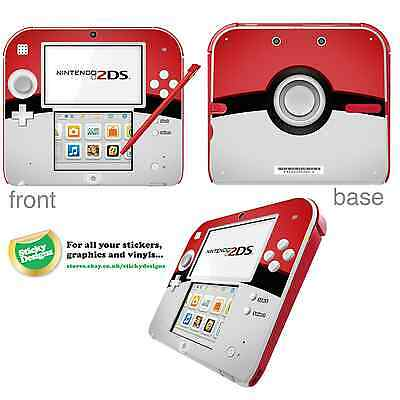 Pokémon Pokeball Vinyl Skin Sticker For Nintendo 2DS • 3.99£