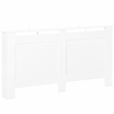 HOMCOM Radiator Cover Solid MDF White Painted Wood Assembly Home Design • 45.99£