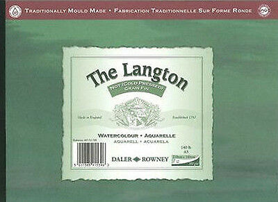 Daler Rowney Langton Watercolour Pad - 140lb / 300gsm - Cold Pressed / NOT - A5 • 10.49£