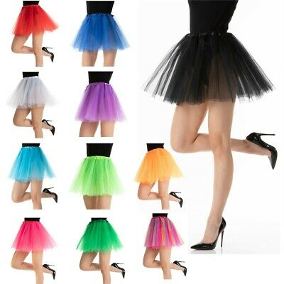 TUTU Skirt Ladies Dance Party Ballet Fancy Dress Petticoat 3 Layers Costume • 3.99£