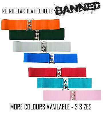 £5.99 • Buy Banned Retro Style Elasticated Stretched Waist Belt