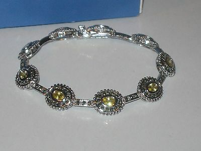 $ CDN29.32 • Buy Lia Sophia CITRINE & HEMATITE BRACELET - LOTS OF SPARKLE -GORGEOUS & VERY RARE