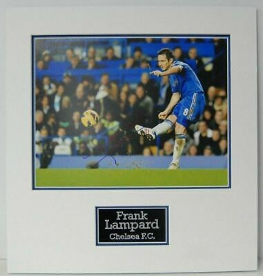 £95 • Buy Frank Lampard Signed & Mounted 14X11 Autograph Chelsea 10X8 AFTAL COA