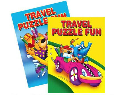 2  Childrens Kids Puzzle Colouring Activity Travel Fun Books Dot To Dot Drawing • 2.99£