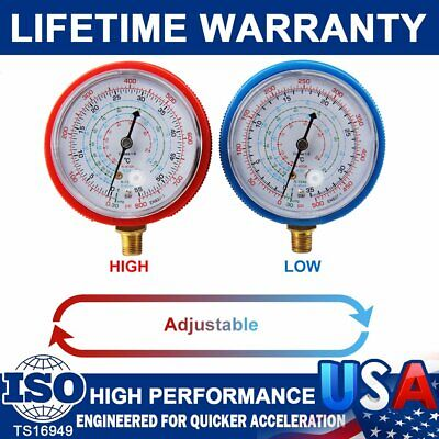 $ CDN17.71 • Buy Hot 2pcs Air Conditioner R410A R134A R22 Refrigerant Low High Pressure Gauge PSI
