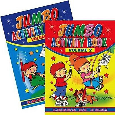 2 X JUMBO CHILDRENS KIDS PUZZLE COLOURING ACTIVITY FUN BOOKS DOT TO DOT UK 1+2 • 3.99£