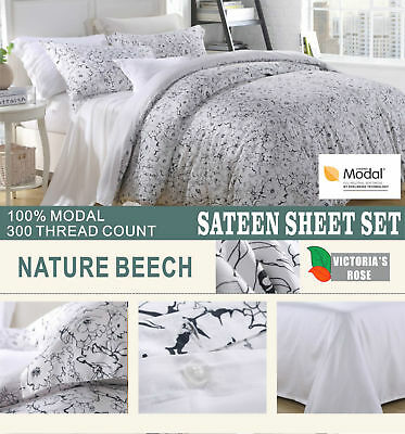 Best Quality 4pc Bed Sheet Set Premium Brand Nature Beech 100% Modal Sateen NEW • 79.98$