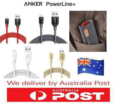 AU19.99 • Buy Anker PowerLine+ II Lightning, Micro USB Type-C Fast Cable For IPhone 7 6S  IPad