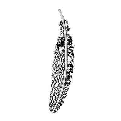 £1.95 • Buy 5 Feather Bird Fly Wing Large Antique Silver Charms Pendants 22mm X 105mm (308)