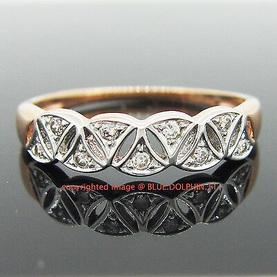 AU179 • Buy Real Genuine Solid 9ct Roae Gold Ingot Engagement Wedding Ring Simulated Diamond