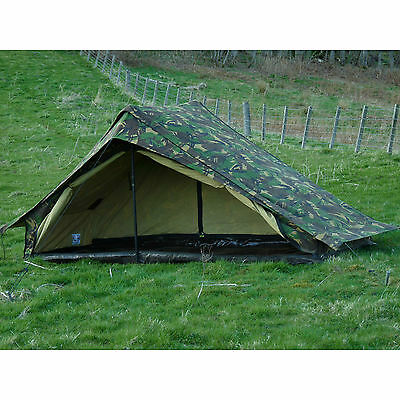 Dutch Army Canvas Tent - Woodland Camouflage One Man Camo Pup 1 Person  • 55£