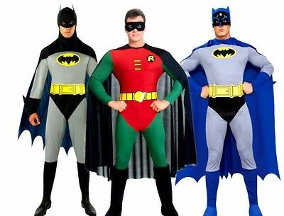 Official Adult BATMAN Or ROBIN Fancy Dress Costume Outfit Book Wk Gotham Mens • 31.90£
