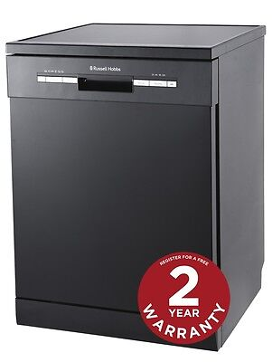 View Details Russell Hobbs Black Full Size, 60cm Wide Dishwasher 12 Place Settings RHDW3B • 339.99£