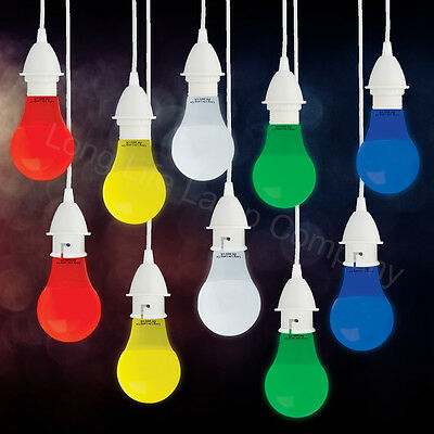 £5.29 • Buy 5W LED Coloured GLS A60 Light Bulb B22 Or E27 RED BLUE GREEN YELLOW WHITE
