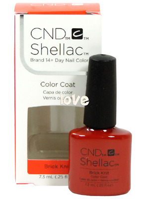 AU16.06 • Buy CND Shellac Gel Color UV Polish Craft Culture Collection 91251- Brick Knit