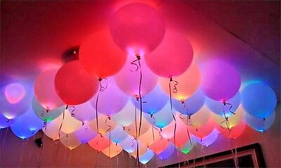 £3.99 • Buy LED Balloons 48 Pack Light Up PERFECT PARTY Decoration Wedding Kids Birthday UK!