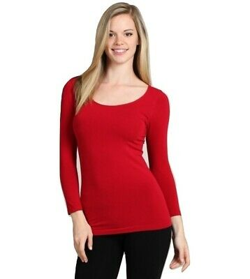 $26 • Buy M. Rena High Quality Extra Soft Seamless 3/4 Sleeve Tee Top. One Size