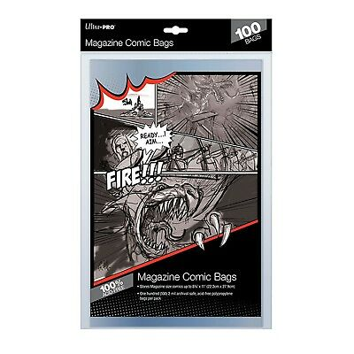 £10.61 • Buy Ultra Pro Comic Series Magazine Size Bags Sleeves Acid Free Ultra Clear X 100