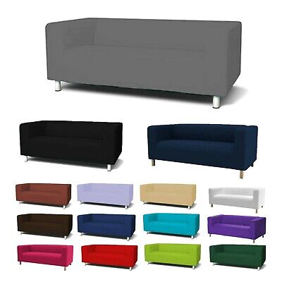 Custom Cover Slipcover To Fit IKEA KLIPPAN 2 Seater Sofa Settee Replacement • 39.97£