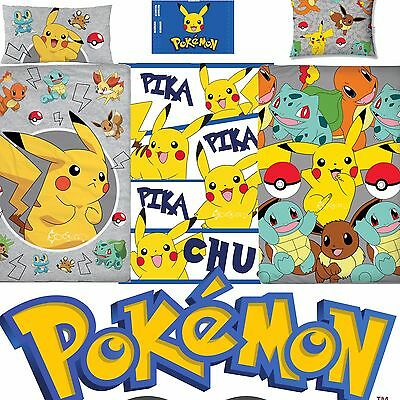 Official Pokemon Go Single Panel/Rotary Duvet Cover Bed Sets New Gift 3 Designs • 15.99£