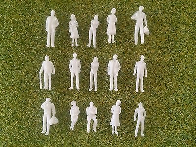 1:100 Scale Architecture Model White Unpainted Figures People - 25/50/100 • 3.60£