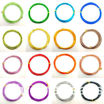 £2.29 • Buy 10m / 20m Of 1mm Thick  Aluminium Craft Wire, Floristry Modelling Jewellery