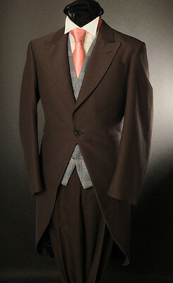 £19.19 • Buy Men's Chocolate Brown 2pc Morning Tail Suit Ideal For Ascot/wedding/sale Mj-2