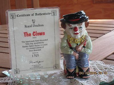 Royal Doulton Toby Jug The Clown #D6935 • 57.50£